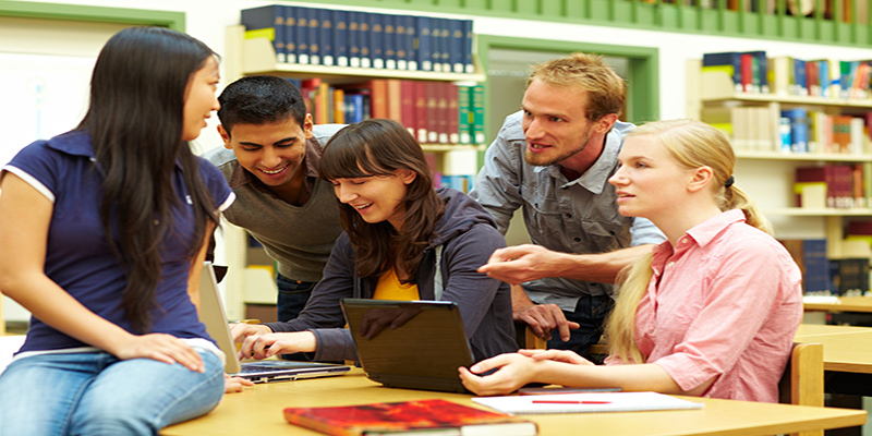 Students Around a Computer